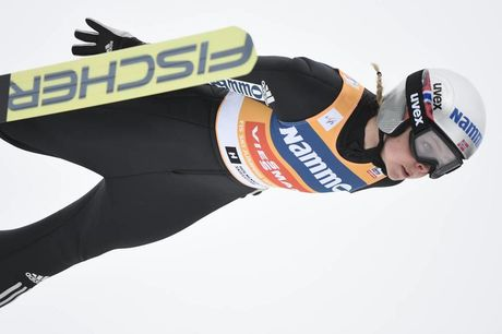 11.03.2018, Oslo, Norway (NOR):Maren Lundby (NOR) - FIS world cup ski jumping ladies, individual HS134, Oslo (NOR). www.nordicfocus.com. © Thibaut/NordicFocus. Every downloaded picture is fee-liable.