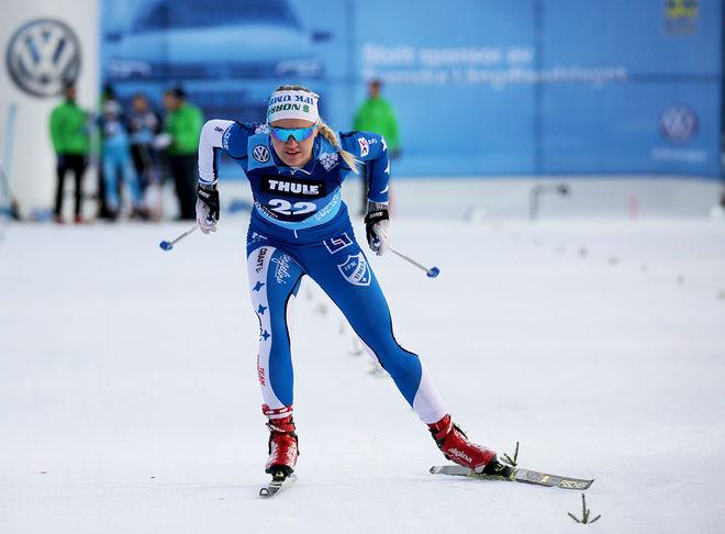 LINN SVAHN imponerade stort på supersprinten i Östersund förra året. Nu är det dags igen och numera tillhör hon hemmaklubben ÖSK. Loppet direktsänds i SVT. Foto/rights: TOM-WILLIAM LINDSTRÖM/kekstock.com