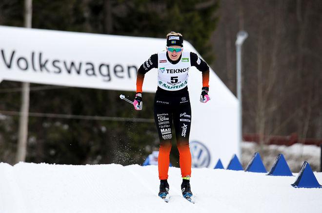 MAJA DAHLQVIST, Falun-Borlänge SK vann Volkswagen Cup totalt för damer förra säsongen. Här från skid-SM i Skellefteå. Foto/rights: KJELL-ERIK KRISTIANSEN/KEK-stock