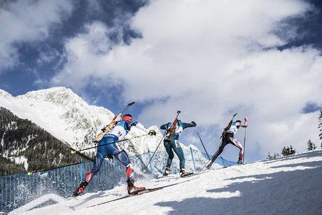 19.01.2018, Antholz, Italy (ITA):Michal Krcmar (CZE), Dmytro Pidruchnyi (UKR), Simon Eder (AUT), (l-r) -  IBU world cup biathlon, sprint men, Antholz (ITA). www.nordicfocus.com. © Manzoni/NordicFocus. Every downloaded picture is fee-liable.