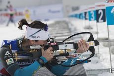 28.01.2018, Ridnaun, Italy (ITA):Julia Simon (FRA) - IBU Open European championships biathlon, single mixed relay, Ridnaun (ITA). www.nordicfocus.com. © Manzoni/NordicFocus. Every downloaded picture is fee-liable.