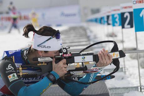 28.01.2018, Ridnaun, Italy (ITA):Julia Simon (FRA) - IBU Open European championships biathlon, single mixed relay, Ridnaun (ITA). www.nordicfocus.com. © Manzoni/NordicFocus. Every downloaded picture is fee-liable.