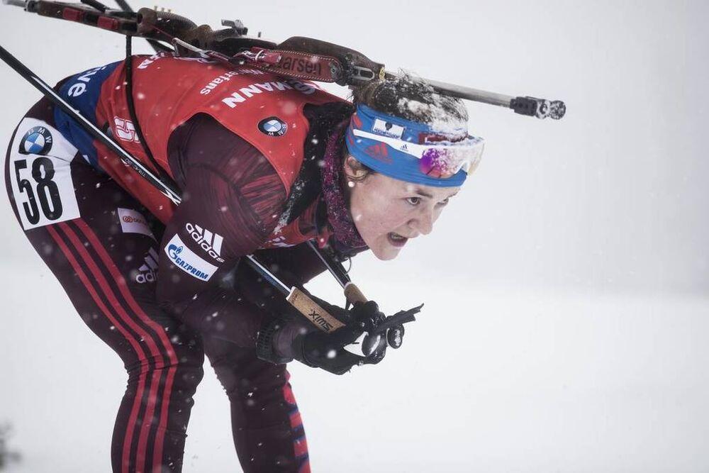 08.12.2017, Hochfilzen, Austria (AUT):Ekaterina Yurlova-Percht (RUS) -  IBU world cup biathlon, sprint women, Hochfilzen (AUT). www.nordicfocus.com. © Manzoni/NordicFocus. Every downloaded picture is fee-liable.