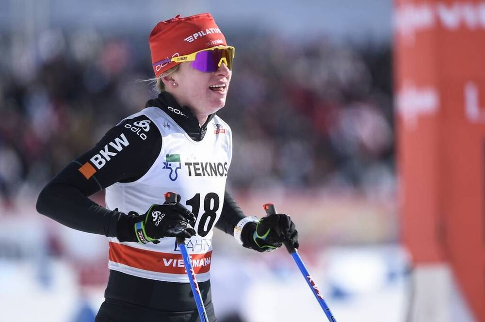 04.03.2018, Lahti, Finland (FIN):Nadine Faehndrich (SUI) - FIS world cup cross-country, 10km women, Lahti (FIN). www.nordicfocus.com. © Thibaut/NordicFocus. Every downloaded picture is fee-liable.