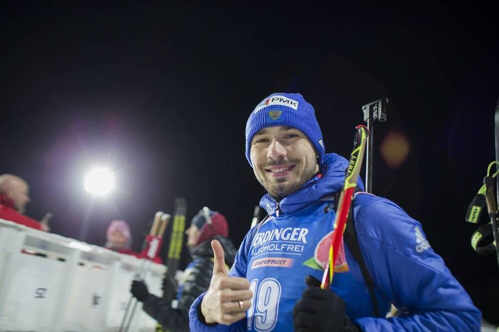 08.03.2018, Kontiolahti, Finland (FIN):Anton Shipulin (RUS) -  IBU world cup biathlon, sprint men, Kontiolahti (FIN). www.nordicfocus.com. © Manzoni/NordicFocus. Every downloaded picture is fee-liable.