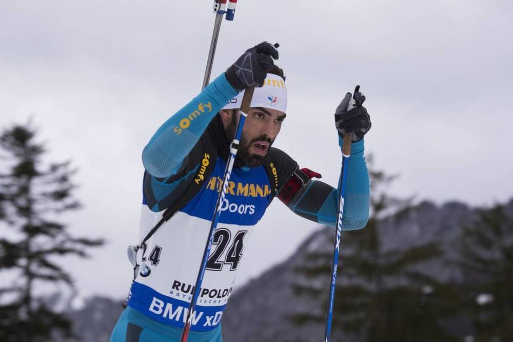 13.01.2017, Ruhpolding, Germany (GER):Simon Fourcade (FRA) -  IBU world cup biathlon, sprint men, Ruhpolding (GER). www.nordicfocus.com. © Manzoni/NordicFocus. Every downloaded picture is fee-liable.