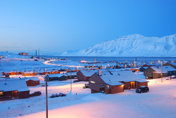 Oversikt over boliger i Longyearbyen. Foto: Dag Arne Husdal