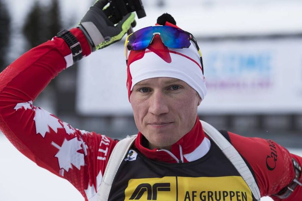 15.03.2018, Oslo, Norway (NOR):Scott Gow (CAN) - IBU world cup biathlon, sprint men, Oslo (NOR). www.nordicfocus.com. © Manzoni/NordicFocus. Every downloaded picture is fee-liable.