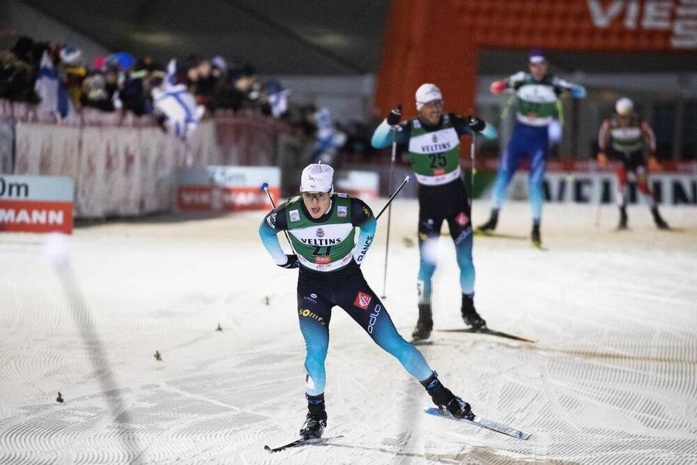 24.11.2018, Ruka, Finland (FIN):Antoine Gerard (FRA) - FIS world cup nordic combined, individual gundersen HS142/10km, Ruka (FIN). www.nordicfocus.com. © Modica/NordicFocus. Every downloaded picture is fee-liable.