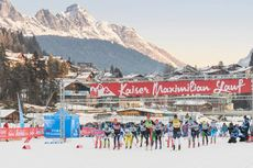 13.01.2018, Seefeld, Austria (AUT): start of the females race - Visma Ski Classics Kaiser Maximilian Lauf, Seefeld (AUT). www.nordicfocus.com. © Rauschendorfer/NordicFocus. Every downloaded picture is fee-liable.