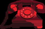 Gammeldags, rød telefon