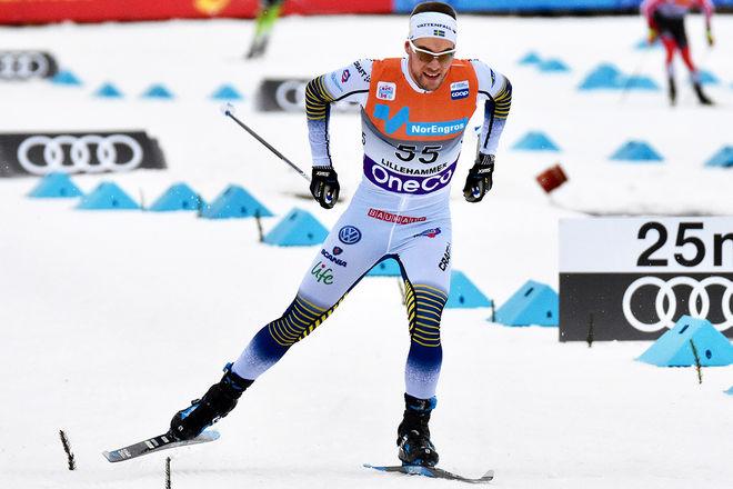 VIKTOR THORN gjorde sitt bästa lopp i världscupen och slutade 12:a. Det var den enda ljusglimten på en annars helsvart svensk dag för herrarna. Foto/rights: ROLF ZETTERBERG/KEK-stock