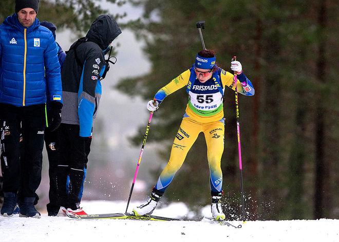 ELISABETH HÖGBERG vann överlägset i lördagens sprint i IBU-cupen i Idre. Foto: PER DANIELSSON