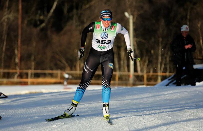 MARIA JONASSON, Östersunds SK leder Björnjakten i Älvdalen med tre futtiga sekunder inför söndagens jaktstart. Foto/rights: KJELL-ERIK KRISTIANSEN/KEK-stock