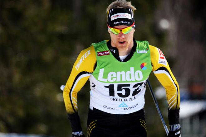 JENS ERIKSSON, Dala-Floda spurtade hem segern i Björnjakten i Älvdalen före Gabriel Thorn och Oscar Persson. Foto/rights: KJELL-ERIK KRISTIANSEN/KEK-stock