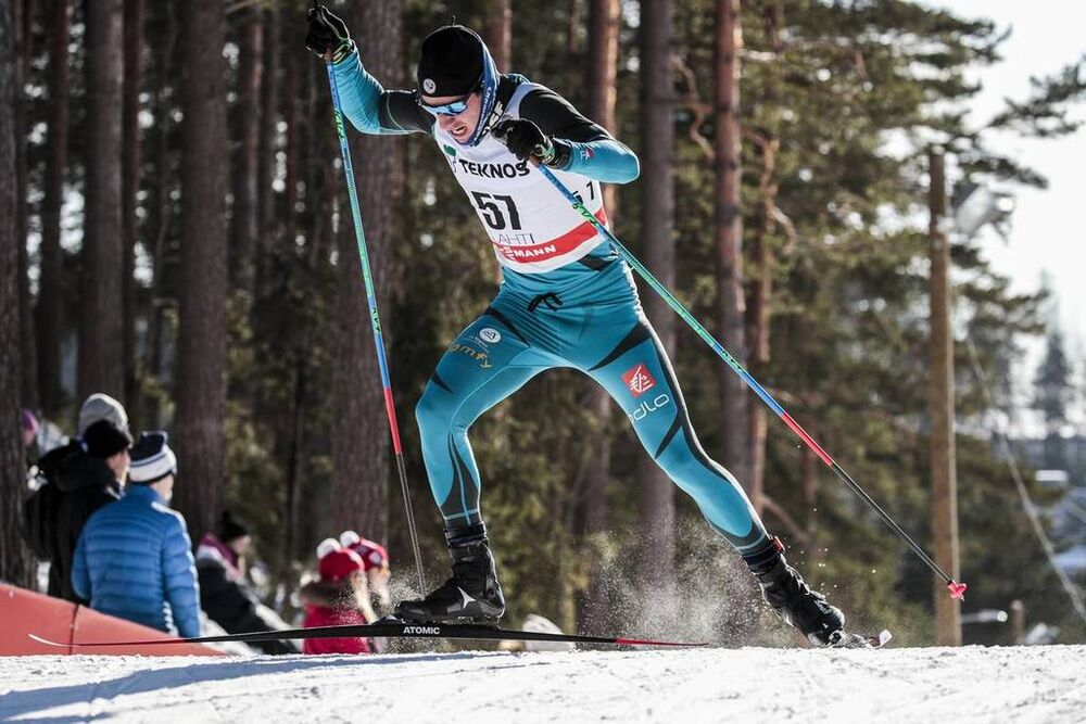 03.03.2018, Lahti, Finland (FIN):Valentin Chauvin (FRA) - FIS world cup cross-country, individual sprint, Lahti (FIN). www.nordicfocus.com. © Modica/NordicFocus. Every downloaded picture is fee-liable.