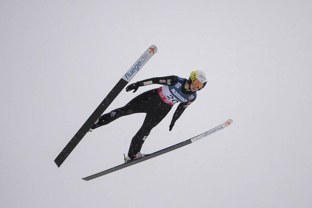 02.12.2018, Lillehammer, Norway (NOR):Lucile Morat (FRA) - FIS world cup ski jumping ladies, individual HS140, Lillehammer (NOR). www.nordicfocus.com. © Tumashov /NordicFocus. Every downloaded picture is fee-liable.