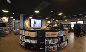 biblioteket samlingsområde