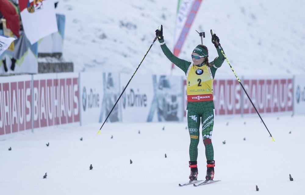 09.12.2018, Pokljuka, Slovenia (SLO):Dorothea Wierer (ITA) - IBU world cup biathlon, pursuit women, Pokljuka (SLO). www.nordicfocus.com. © Manzoni/NordicFocus. Every downloaded picture is fee-liable.