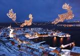 Julestemnning i havna i Hammerfest