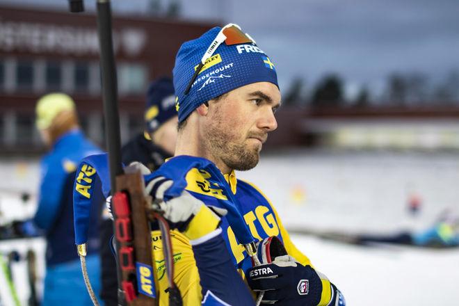INTE SÅ MUNTERT för Fredrik Lindström som fått körtelfeber i säsongen med VM på hemmaplan. Foto: HÅKAN BLIDBERG