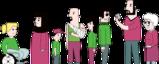 Manfoldg samling av mennesker