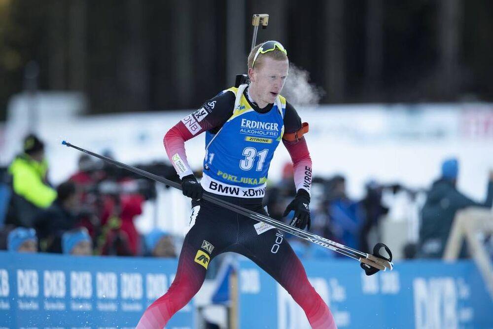 07.12.2018, Pokljuka, Slovenia (SLO):Johannes Thingnes Boe (NOR) - IBU world cup biathlon, sprint men, Pokljuka (SLO). www.nordicfocus.com. © Manzoni/NordicFocus. Every downloaded picture is fee-liable.