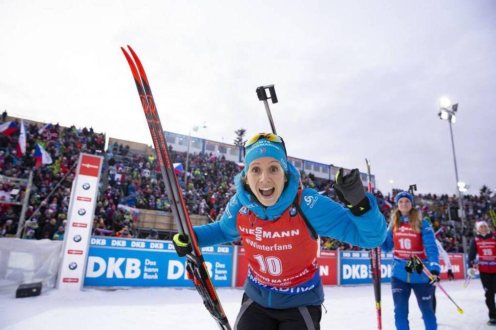 23.12.2018, Nove Mesto, Czech Republic (CZE):Anais Chevalier (FRA) - IBU world cup biathlon, mass women, Nove Mesto (CZE). www.nordicfocus.com. © Manzoni/NordicFocus. Every downloaded picture is fee-liable.