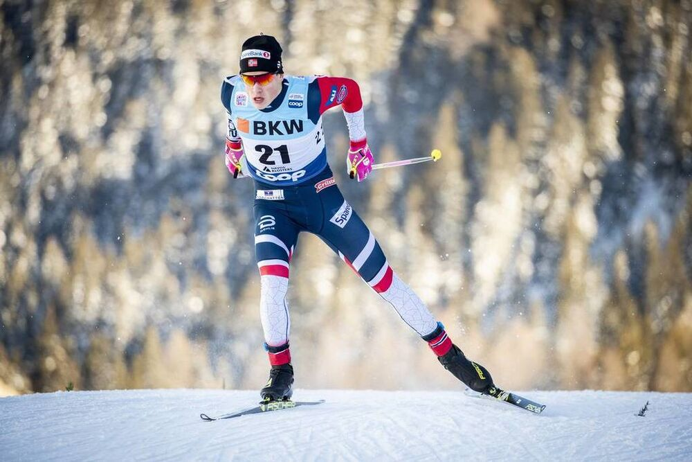 15.12.2018, Davos, Switzerland (SUI):Johannes Hoesflot Klaebo (NOR) - FIS world cup cross-country, individual sprint, Davos (SUI). www.nordicfocus.com. © Modica/NordicFocus. Every downloaded picture is fee-liable.