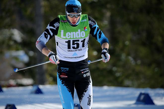 KLAS NILSSON, Skellefteå vann Rymmarloppet i Arvidsjaur under lördagen. Foto/rights: KJELL-ERIK KRISTIANSEN/KEK-stock