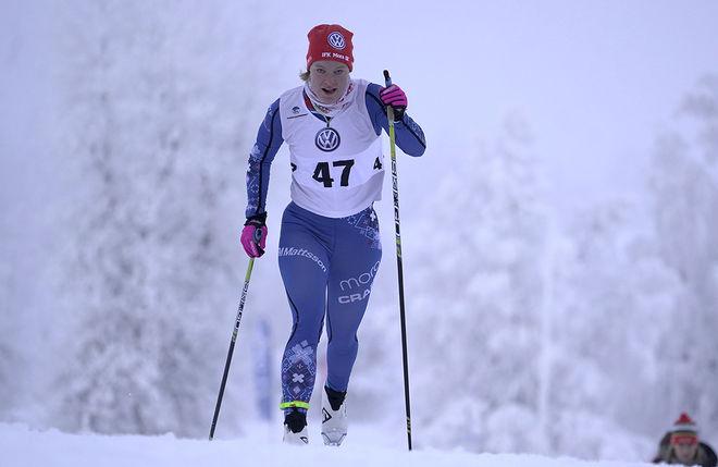 IDA LINDKVIST, IFK Mora är i god form och var klart bäst bland damerna i Matsboloppet i Hedemora under söndagen. Foto/rights: TOM-WILLIAM LINDSTRÖM/KEK-stock