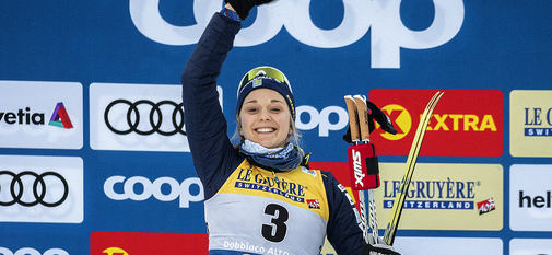 29.12.2018, Toblach, Italy (ITA):Stina Nilsson (SWE) - FIS world cup cross-country, tour de ski, individual sprint, Toblach (ITA). www.nordicfocus.com. © Modica/NordicFocus. Every downloaded picture is fee-liable.