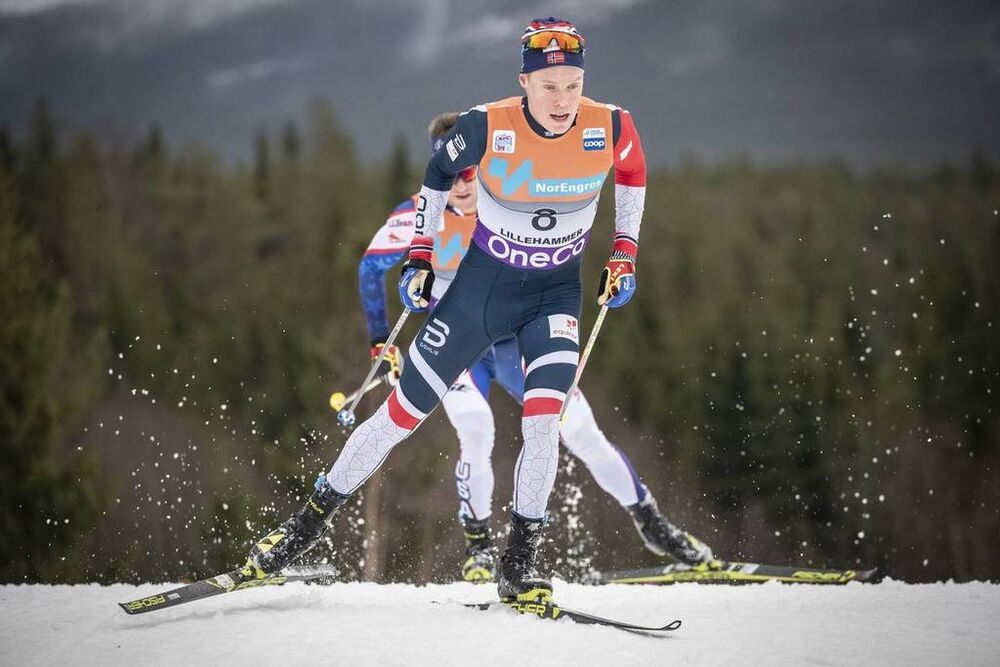 02.12.2018, Lillehammer, Norway (NOR):Martin Loewstroem Nyenget (NOR) - FIS world cup cross-country, pursuit men, Lillehammer (NOR). www.nordicfocus.com. © Modica/NordicFocus. Every downloaded picture is fee-liable.