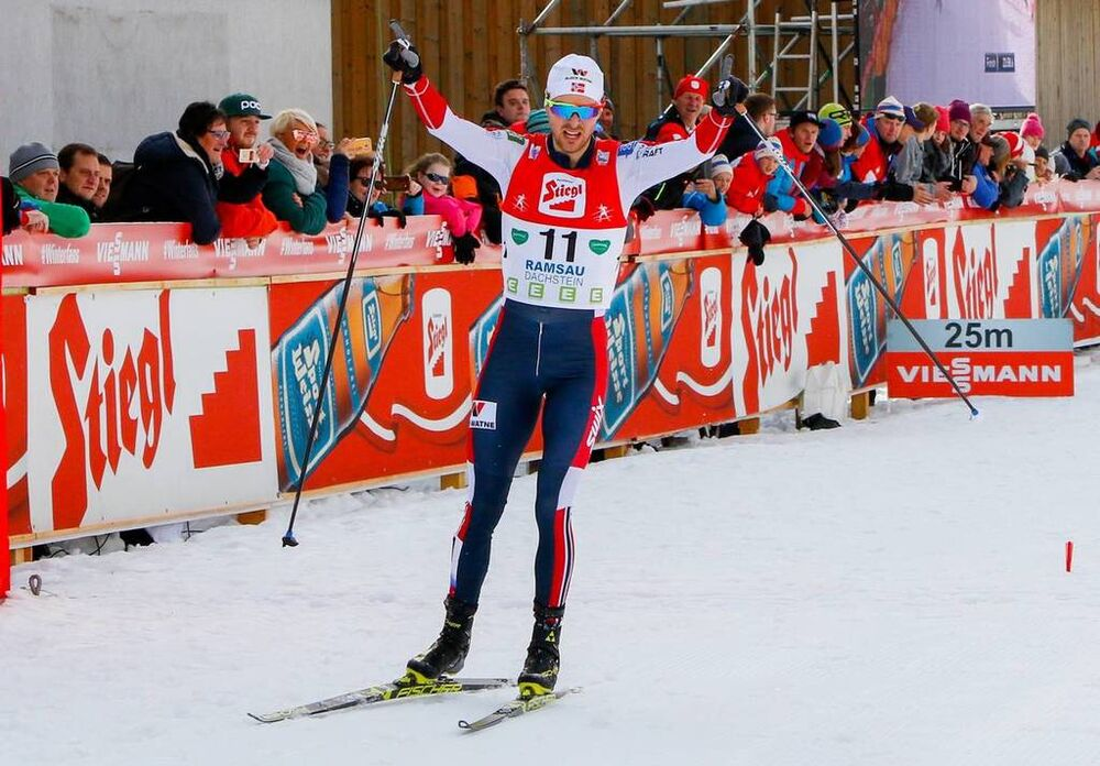 23.12.2018, Ramsau, Austria (AUT):Joergen Graabak (NOR) - FIS world cup nordic combined, individual gundersen HS98/10km, Ramsau (AUT). www.nordicfocus.com. © Volk/NordicFocus. Every downloaded picture is fee-liable.