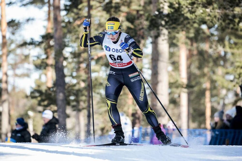 16.03.2018, Falun Sweden (SWE):Johanna Hagstroem (SWE) - FIS world cup cross-country, individual sprint, Falun (SWE). www.nordicfocus.com. © Modica/NordicFocus. Every downloaded picture is fee-liable.