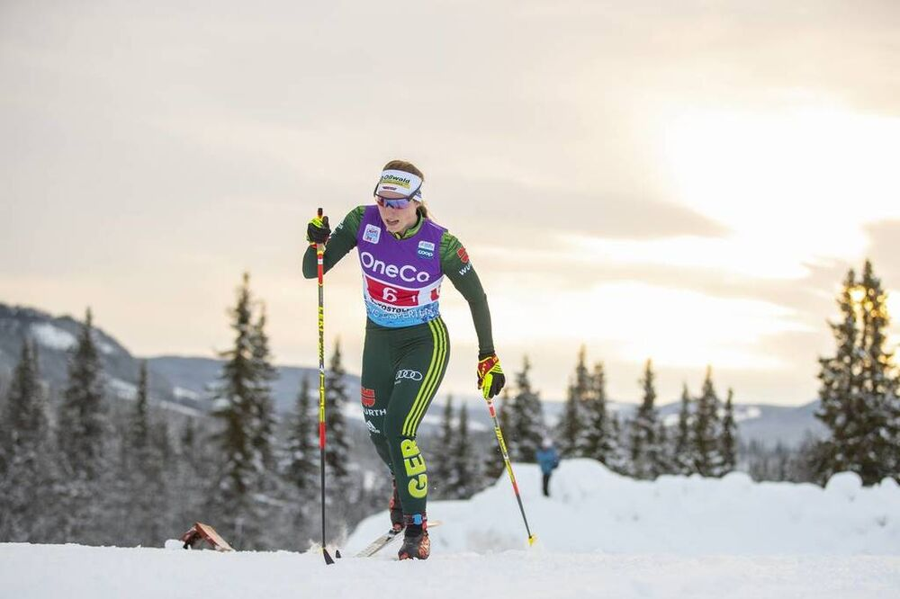 09.12.2018, Beitostolen, Norway (NOR):Antonia Fraebel (GER) - FIS world cup cross-country, 4x5km women, Beitostolen (NOR). www.nordicfocus.com. © Modica/NordicFocus. Every downloaded picture is fee-liable.