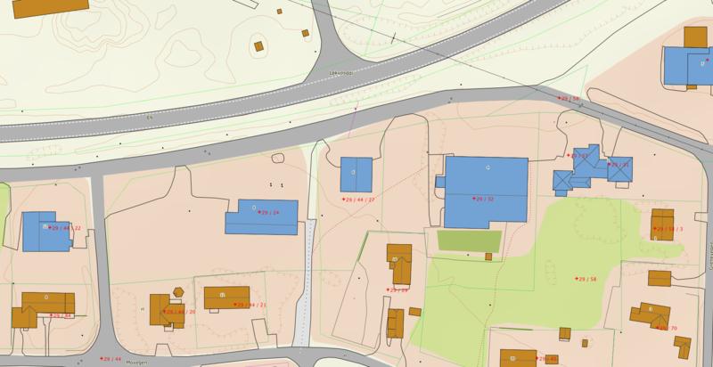 Illustrasjon kart eiendom