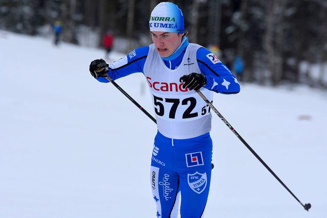 SIMON ÅSTOT såg till att det blev seger till IFK Umeå också i H19-20 där han vann med dagens bästa tid på 10 km. Foto/rights: ROLF ZETTERBERG/KEK-stock