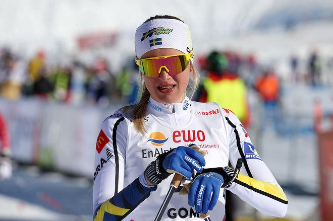FRIDA KARLSSON har blivit förkyld och måste precis som Calle Halfvarsson stå över helgens väldscup i Lillehammer. Foto/rights: KJELL-ERIK KRISTIANSEN/kekstock.com
