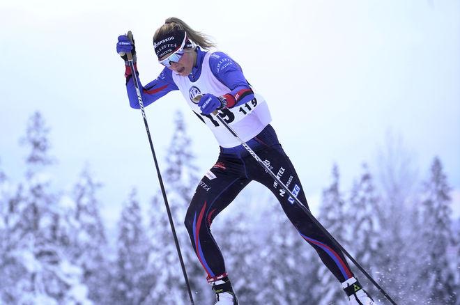 FRIDA KARLSSON imponerade oerhört då hon vann 20 km masstart med nästan två minuter i Skandinaviska cupen i Vuokatti. Foto/rights: TOM-WILLIAM LINDSTRÖM/KEK-stock
