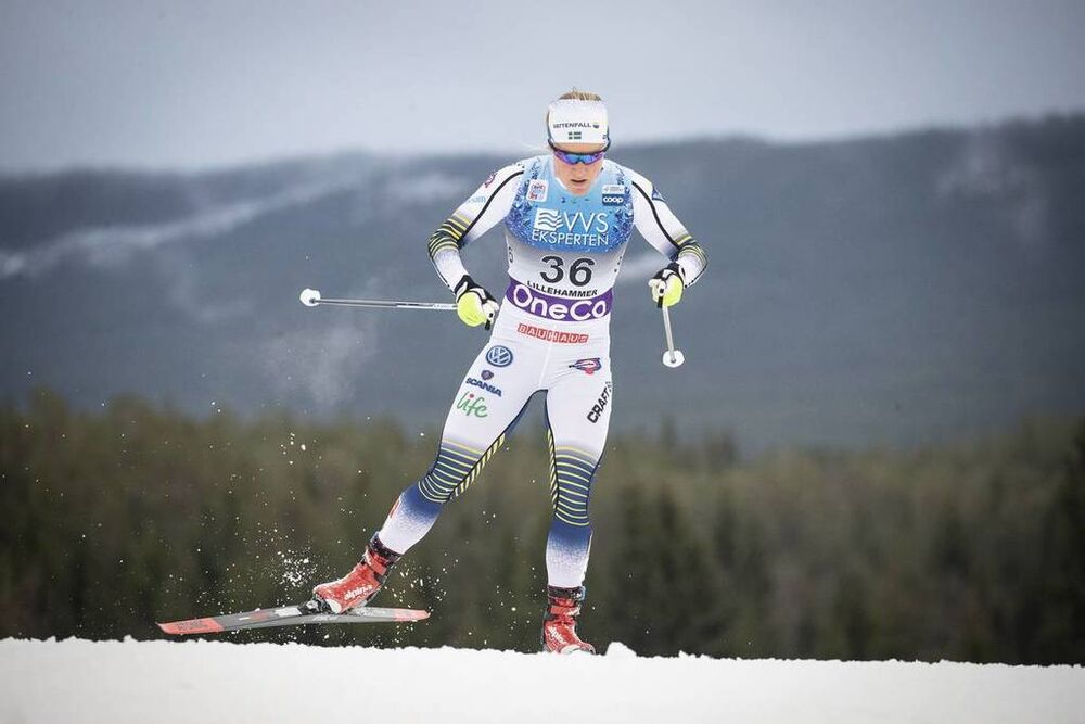 01.12.2018, Lillehammer, Norway (NOR):Hanna Falk (SWE) - FIS world cup cross-country, pursuit women, Lillehammer (NOR). www.nordicfocus.com. © Modica/NordicFocus. Every downloaded picture is fee-liable.