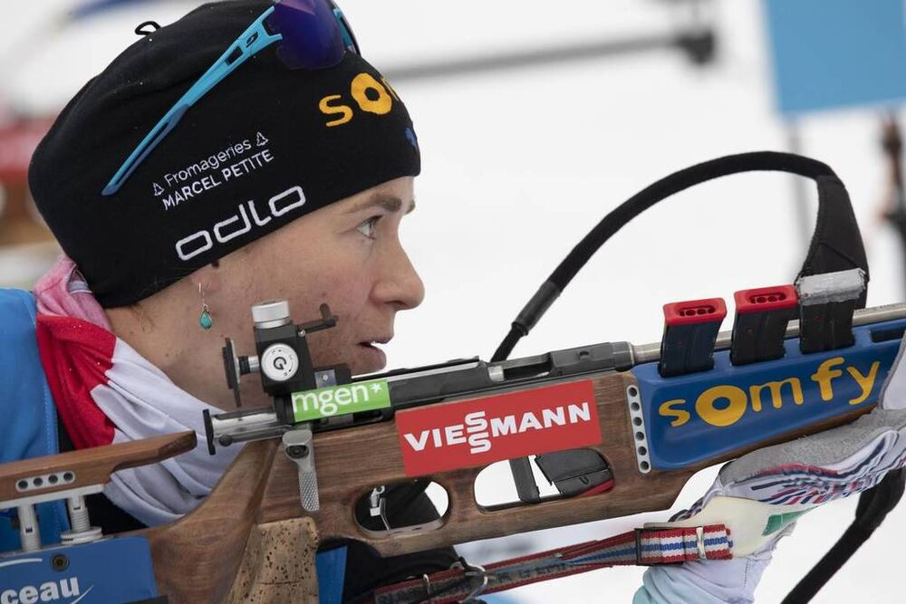 10.01.2019, Oberhof, Germany (GER):Anais Bescond (FRA) -  IBU world cup biathlon, sprint women, Oberhof (GER). www.nordicfocus.com. © Manzoni/NordicFocus. Every downloaded picture is fee-liable.