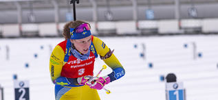 12.01.2019, Oberhof, Germany (GER):Hanna Oeberg (SWE) -  IBU world cup biathlon, pursuit women, Oberhof (GER). www.nordicfocus.com. © Manzoni/NordicFocus. Every downloaded picture is fee-liable.