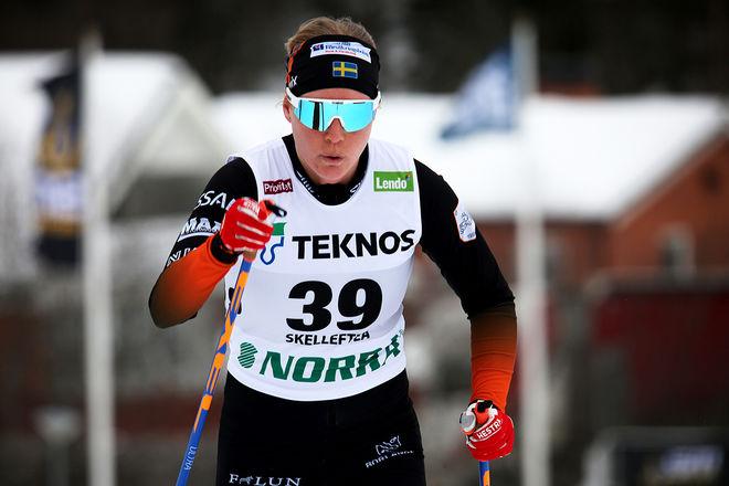 MOA LARSSON, Falun-Borlänge SK var snabbaste dam på hemmaplan i Bergeboloppet i Borlänge. Foto/rights: KJELL-ERIK KRISTIANSEN/kekstock.com