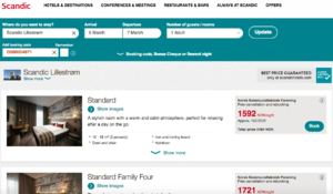 Scandic Lillestrøm bestillingsbilde med bookingnr