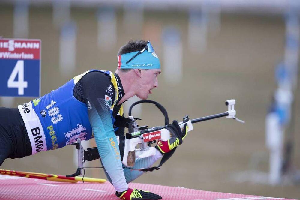 07.12.2018, Pokljuka, Slovenia (SLO):Fabien Claude (FRA) - IBU world cup biathlon, sprint men, Pokljuka (SLO). www.nordicfocus.com. © Manzoni/NordicFocus. Every downloaded picture is fee-liable.