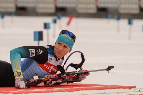 15.01.2019, Ruhpolding, Germany (GER):Anais Bescond (FRA) -  IBU world cup biathlon, training, Ruhpolding (GER). www.nordicfocus.com. © Tumashov/NordicFocus. Every downloaded picture is fee-liable.
