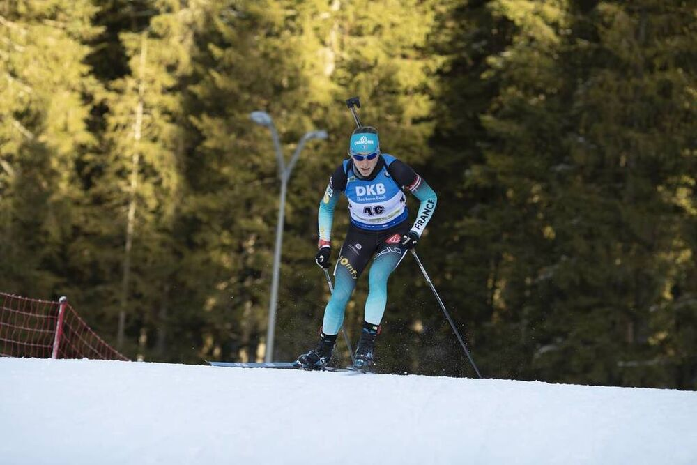 08.12.2018, Pokljuka, Slovenia (SLO):Enora Latuilliere (FRA) - IBU world cup biathlon, sprint women, Pokljuka (SLO). www.nordicfocus.com. © Manzoni/NordicFocus. Every downloaded picture is fee-liable.