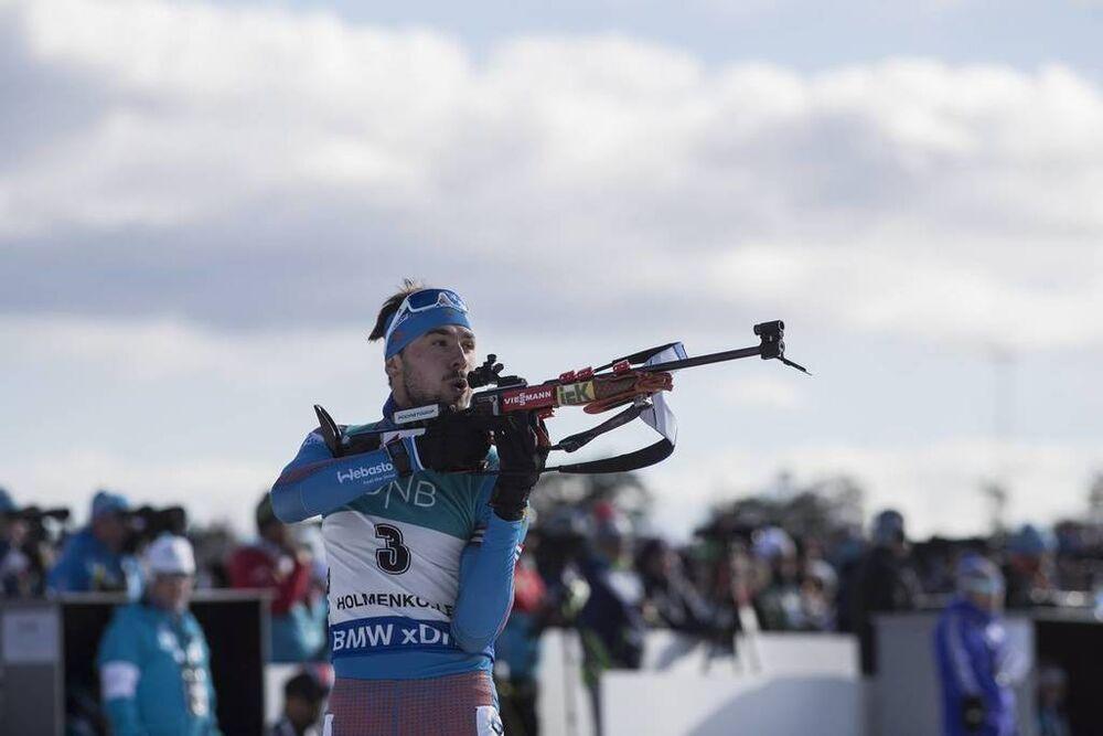18.03.2017, Oslo, Norway (NOR):Anton Shipulin (RUS) -  IBU world cup biathlon, pursuit men, Oslo (NOR). www.nordicfocus.com. © Manzoni/NordicFocus. Every downloaded picture is fee-liable.