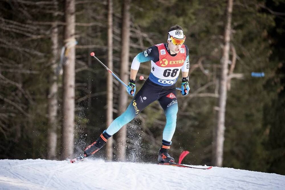 29.12.2018, Toblach, Italy (ITA):Adrien Backscheider (FRA) - FIS world cup cross-country, tour de ski, individual sprint, Toblach (ITA). www.nordicfocus.com. © Modica/NordicFocus. Every downloaded picture is fee-liable.